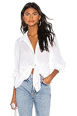 ALLSAINTS Sirena Shirt in Chalk White