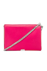 ALLSAINTS Captain Flap Shoulder Bag in Fuchsia Pink