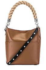 ALLSAINTS Harri Small Tote in Chocolate Brown