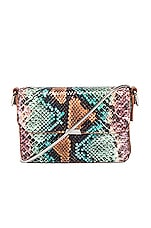 ALLSAINTS Silver Mini Flap Bag in Green Multi