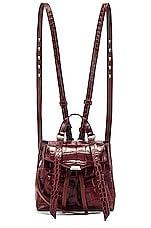ALLSAINTS Polly Mini Backpack in Bordeaux
