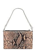 ALLSAINTS Fetch Chain Crossbody Bag in Snake Pink
