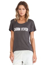 Cabin Fever Tee in Charcoal