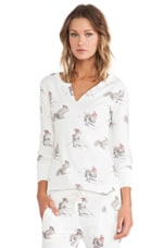 Squirrel Thermal Top in White