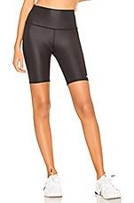 alo High Waist Biker Short in Black Glossy