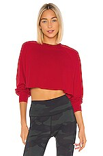 alo Double Take Pullover in Scarlet