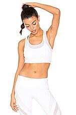 Glare Sports Bra in White