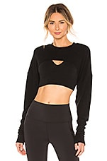 alo Extreme Long Sleeve Top in Black