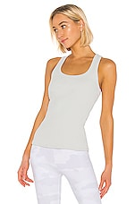 alo Rib Support Tank in Dove Grey