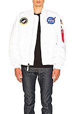 ALPHA INDUSTRIES MA 1 Nasa Bomber in White