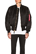 ALPHA INDUSTRIES MA-1 Blood Chit Bomber in Black