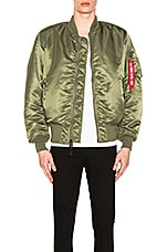 ALPHA INDUSTRIES MA-1 Blood Chit Bomber Jacket in Sage