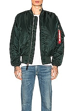 ALPHA INDUSTRIES MA-1 Flight Jacket in Patrol Green