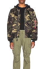 ALPHA INDUSTRIES MA-1 Natus in Dark Wood Camo