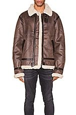 ALPHA INDUSTRIES B-3 Sherpa Mod in Deep Brown