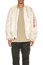 ALPHA INDUSTRIES L-2B Loose Flight Jacket in Vintage White