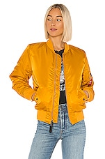 ALPHA INDUSTRIES MA-1 Bomber in Golden Yellow