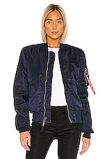 ALPHA INDUSTRIES MA-1 Slim Fit Bomber in Replica Blue
