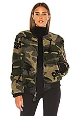 ALPHA INDUSTRIES I-2B Sherpa Flight Jacket in Woodland Camo