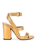 ALUMNAE Stitched Mignon Block Heel in Bronze