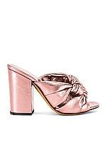 ALUMNAE Windsor Knot Block Heel in Rose