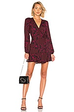 A.L.C. Embry Dress in Bordeaux & Black