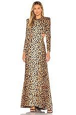 A.L.C. Gabriela Dress in Brown Multi