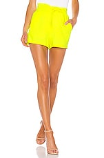 A.L.C. Kerry Short in Neon Yellow