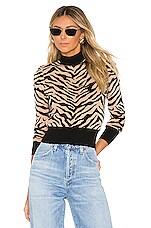 A.L.C. Lola Sweater in Taupe & Black