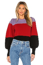 A.L.C. Sammy Sweater in Wisteria, Red & Black