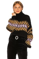 A.L.C. Tracey Sweater in Black, Bordeaux & Lilac