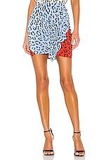 A.L.C. Geller Skirt in Blue & Red Multi