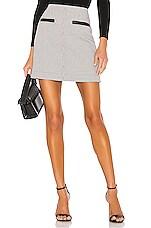 A.L.C. Reynolds Skirt in White, Teal & Bordeaux