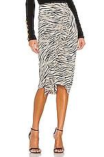 A.L.C. Metz Skirt in Beige & Black