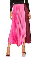 A.L.C. Grainger Skirt in Garnet & Grapefruit