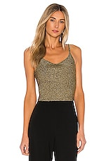 A.L.C. Rosie Top in Black & Gold