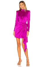 Amanda Uprichard x REVOLVE Yasmine Knot Dress in Dark Hot Pink
