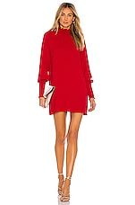 Amanda Uprichard Noemi Dress in Scarlet