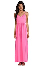 Slit Gown in Hibiscus