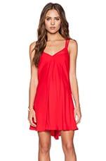 Amanda Uprichard Rainbow Dress in New Red
