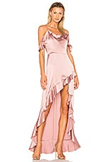 Amanda Uprichard Peony Maxi Dress in Henna