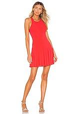 Amanda Uprichard Gavin Dress in Electric Rouge