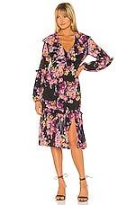 Amanda Uprichard Talulah Midi Dress in Evening Blossom