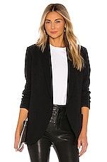 Amanda Uprichard Shawl Collar Blazer in Black