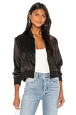Amanda Uprichard Frankie Bomber Jacket in Black