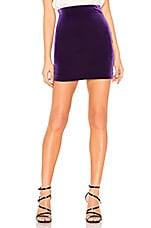Amanda Uprichard x REVOLVE Suit Skirt in Purple Velvet