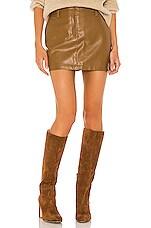 Amanda Uprichard X REVOLVE Brooklyn Skirt in Tan Leather