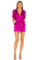 Amanda Uprichard Aidy Romper in Dark Hot Pink