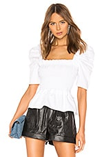 Amanda Uprichard Marisol Top in White