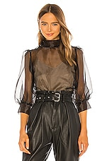Amanda Uprichard X REVOLVE Sonnet Blouse in Black